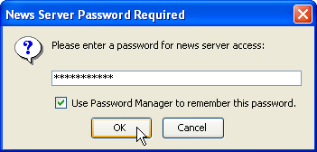 Prompt for password